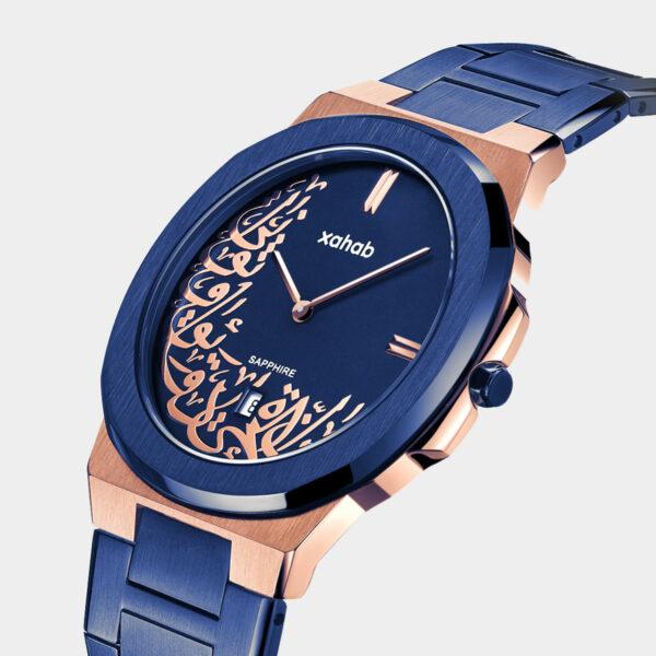 Xahab 02 Luxury Arabic design watch Blue